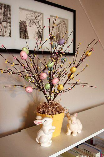 """<p>Already-decorated faux branches make this project a breeze to put together! </p><p><strong>Get the tutorial at <a href=""""https://lifeatcloverhill.com/2011/04/how-to-make-easter-tree.html"""" rel=""""nofollow noopener"""" target=""""_blank"""" data-ylk=""""slk:Life At Cloverhill."""" class=""""link rapid-noclick-resp"""">Life At Cloverhill.</a></strong></p><p><strong><a class=""""link rapid-noclick-resp"""" href=""""https://www.amazon.com/Coxeer-Easter-Decoration-Creative-Painting/dp/B079N2V47K/?tag=syn-yahoo-20&ascsubtag=%5Bartid%7C10050.g.26498744%5Bsrc%7Cyahoo-us"""" rel=""""nofollow noopener"""" target=""""_blank"""" data-ylk=""""slk:SHOP BRANCHES"""">SHOP BRANCHES</a><br></strong></p>"""