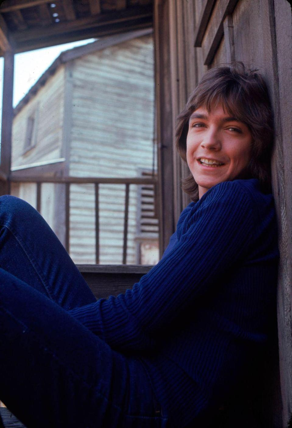 <p>David Cassidy, then the lead singer of The Partridge Family, in May 1971.</p>