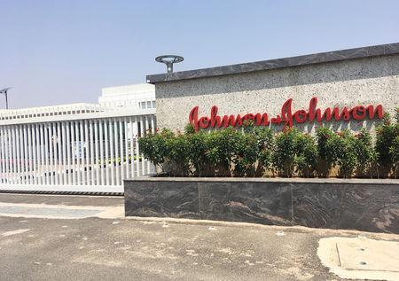 FILE PHOTO: Johnson & Johnson manufacturing plant is pictured in Penjerla on the outskirts of Hyderabad, India April 16, 2019. REUTERS/Zeba Siddiqui
