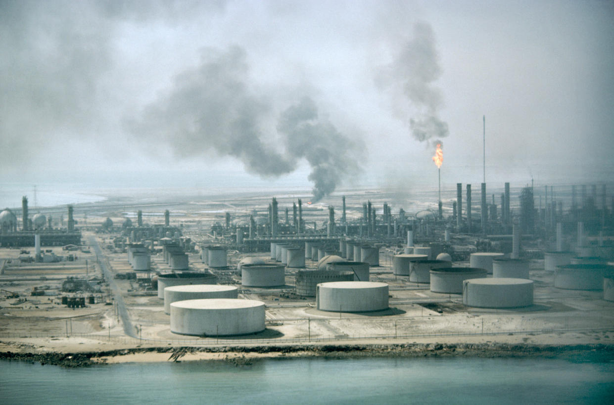 The Aramco oil refinery in Dahran, Saudi Arabia. Photo: MyLoupe/Universal Images Group via Getty Images