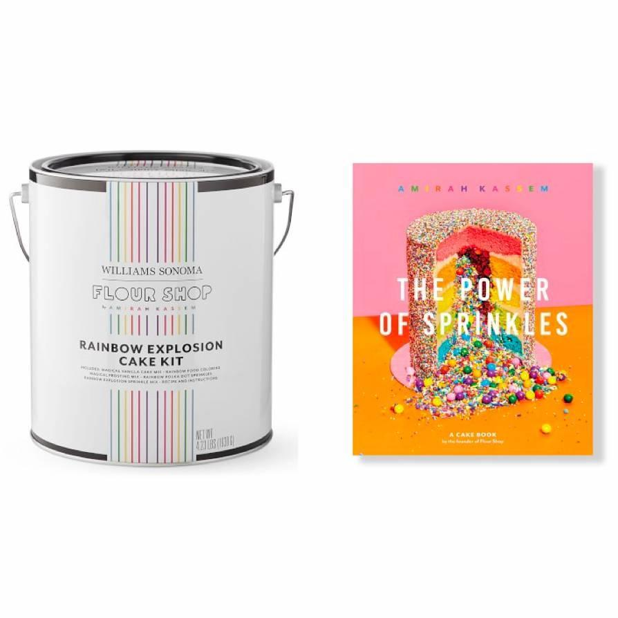 "Now is the time to get creative in the kitchen, and this rainbow sprinkles cake is pure Instagram gold. $80, Williams Sonoma. <a href=""https://www.williams-sonoma.com/products/flour-shop-cake-kit-and-cookbook"" rel=""nofollow noopener"" target=""_blank"" data-ylk=""slk:Get it now!"" class=""link rapid-noclick-resp"">Get it now!</a>"