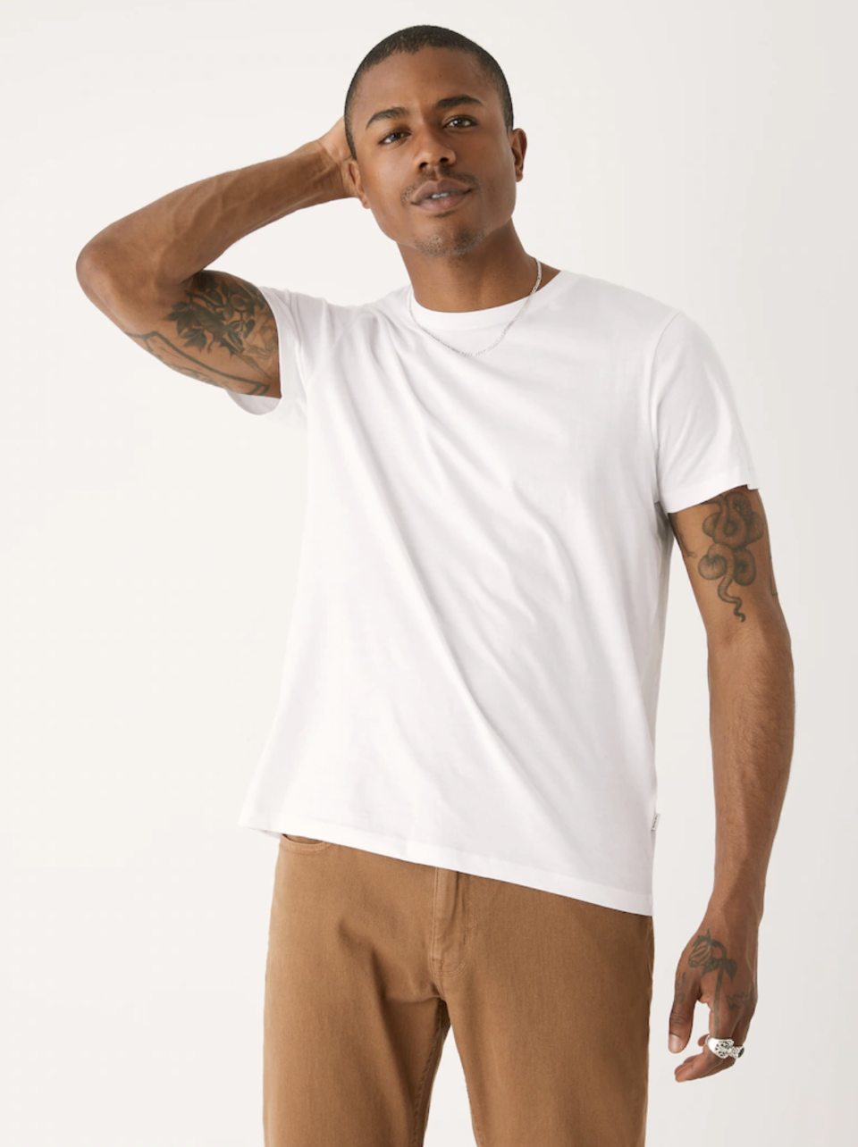 Frank and Oak The Slim Essential Tee in Bright White (Photo via Frank and Oak)