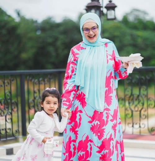 Siti releases 'Comel Pipi Merah' while she was pregnant with daughter Aafiyah, now three