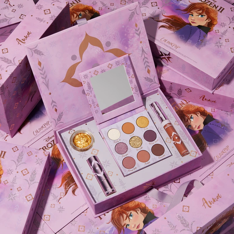 "ColourPop Cosmetics ""Frozen 2"" Anna Collection (Photo courtesy of ColourPop Cosmetics)"