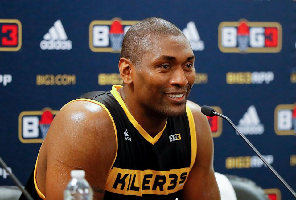 """Metta World Peace says there's """"no question"""" he would win an NBA title as a coach. (Photo by Kevin C. Cox/Getty Images)"""