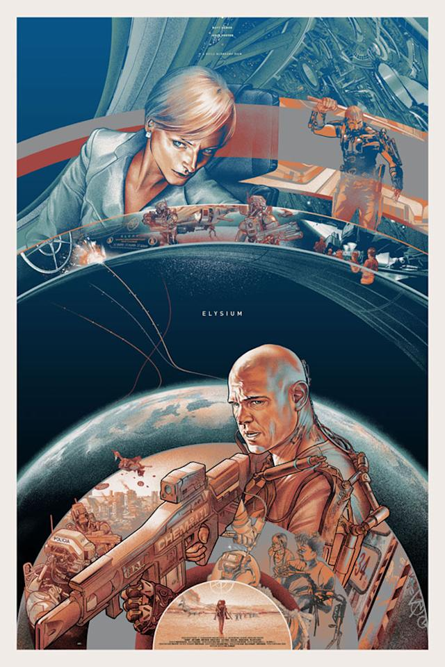 """Variant Edition of Mondo's Comic-Con Poster for Universal Pictures' """"Elysium"""" - 2013"""