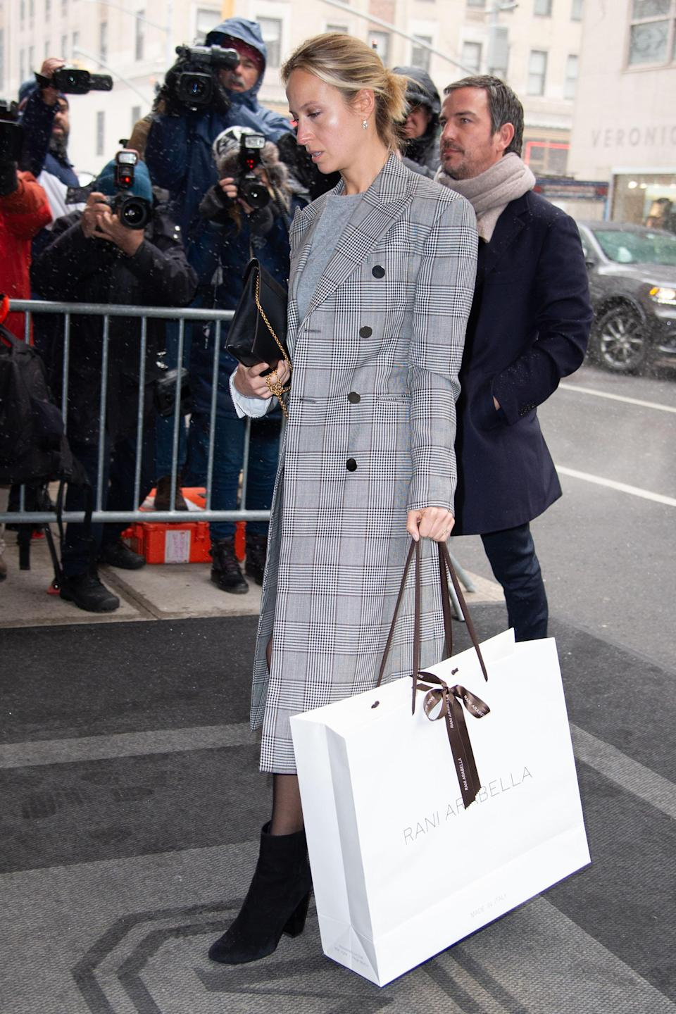 Misha Nanoo arrives at Meghan's baby shower in New York [Photo: Getty]