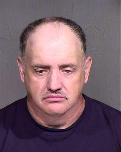 This image provided by the Maricopa County Ariazona Sheriff's Office shows the booking photo of David Lee Simpson. Simpson was booked Wednesday July 24, 2013 for making threats via twitter. Cable newscasters Nancy Grace and Jane Velez-Mitchell were the victims of the online threats that the New York man made because he was upset with their coverage of the Jodi Arias trial, Arizona authorities said Wednesday. (AP Photo/Maricopa County Arizona Sheriff's Office)