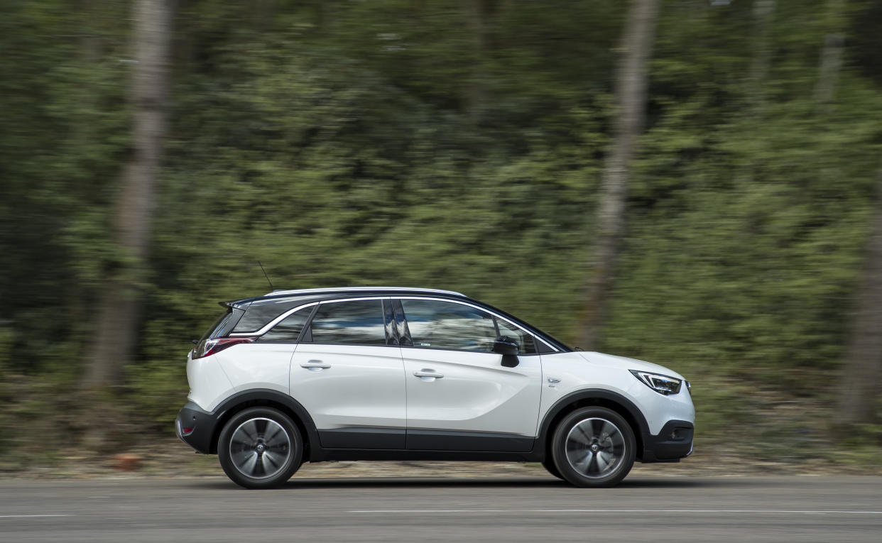 The Crossland X has a rounded design