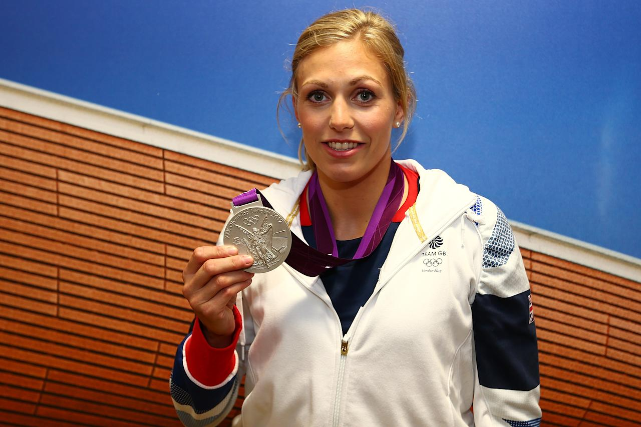 LONDON, ENGLAND - AUGUST 02:  Team GB Women's-78kg  Judo Gold medalist Gemma Gibbons poses with her Silver medal at Team GB House in Stratford on August 2, 2012 in London, England.  (Photo by Chris Hyde/Getty Images)