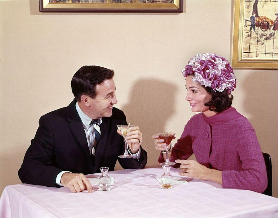 "<p>Back in the '60s, most patrons enjoyed cocktails with dinner or the occasional glass of champagne. No wonder drinks like <a href=""https://www.delish.com/food-news/g3906/popular-cocktails-the-year-you-were-born/?slide=8"" rel=""nofollow noopener"" target=""_blank"" data-ylk=""slk:old-fashions and whiskey sours"" class=""link rapid-noclick-resp"">old-fashions and whiskey sours</a> are so heavily associated with the decade.</p>"