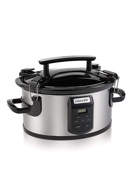 "<p><strong>Crock-Pot</strong></p><p>bedbathandbeyond.com</p><p><strong>$79.99</strong></p><p><a href=""https://go.redirectingat.com?id=74968X1596630&url=https%3A%2F%2Fwww.bedbathandbeyond.com%2Fstore%2Fproduct%2Fcrock-pot-reg-6-quart-portable-slow-cooker-in-stainless-steel-black%2F1047405998%2F&sref=https%3A%2F%2Fwww.goodhousekeeping.com%2Fappliances%2Fslow-cooker-reviews%2Fg1996%2Ftop-rated-slow-cookers%2F"" rel=""nofollow noopener"" target=""_blank"" data-ylk=""slk:Shop Now"" class=""link rapid-noclick-resp"">Shop Now</a></p><p>The Single Hand Cook & Carry's lid features four secure locks and a large handle, making it<strong> ideal for taking on the go </strong><strong>to potlucks or tailgates</strong><strong>.</strong> It holds up to six quarts, automatically switches to Keep Warm, and has a stoneware cooking insert that is dishwasher and oven safe. </p>"