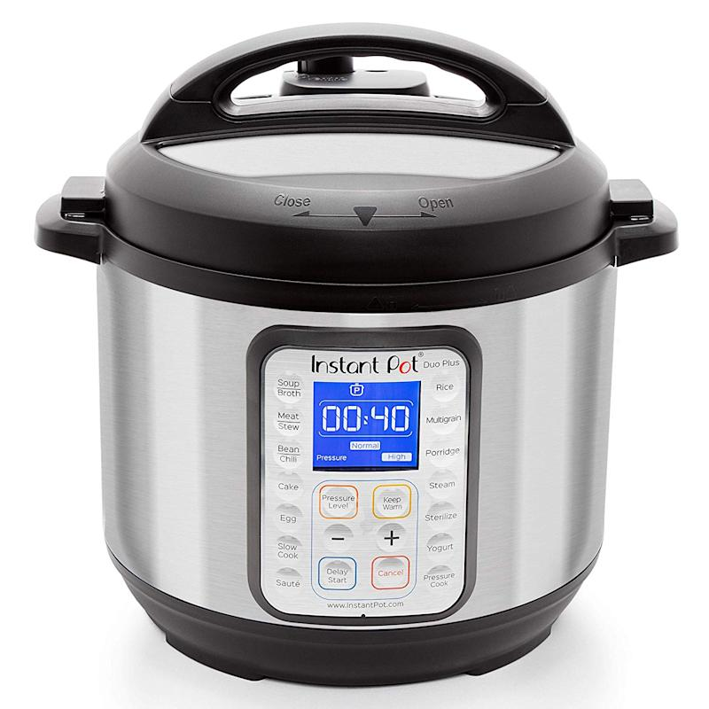 Instant Pot DUO PLUS 60 6 QT 9-in1 Multi-Use Programmable Pressure Cooker. (Photo: Amazon)
