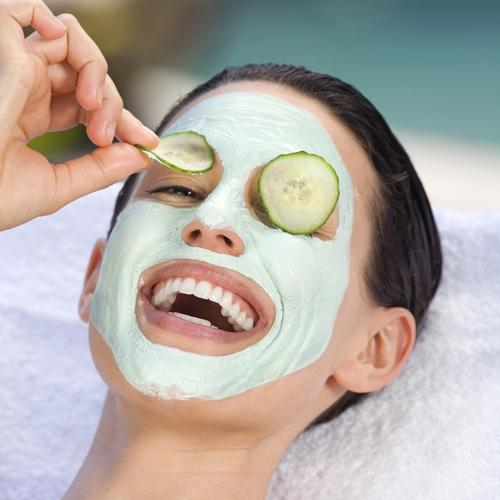 "<p><strong>Mend your skin with an at-home facial</strong><br /><br />Take 15 minutes before bed to give yourself a skin treat. Either buy a face mask or <a href=""http://uk.lifestyle.yahoo.com/4-diy-face-masks-try-winter-192800335.html"" target=""_blank"">make your own</a>. Put two spoons in the fridge and cut some thin slices of cucumber (yes you'll look like a cliché, but it works!) <br /><br />First make sure your face is clean and make-up free. If you have time to spare, have a hot bath to open your pores. If not, wash your face and cover with a hot flannel for the same effect. <br /><br />Cover your face in the mask, taking care to massage it in with your finger tips to your forehead, T-zone and cheeks and underneath your chin so your neck gets some attention too. Avoid delicate areas around your eyes.<br /><br />Place a slice of cucumber on each eye and lie down for 10 minutes. Half-way through you might like to replace the cucumber for fresh slices. These help cool and moisturise your eyes and reduce puffiness.<br /><br />Remove your mask with a hot flannel for some extra exfoliation then rinse the flanel in cold water and press it against your face to close the pores. Dry your face by patting it gently on a towel and then apply the backs of the cold spoons to your eye for 20 seconds. <br />To finish, use your favourite moisturiser and get a nice early night!</p>"