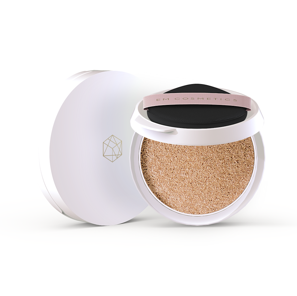 "<p>""I was really into cushion compacts about two years ago and then essentially abandoned them, cold-turkey. I simply didn't find a formula I liked more than my trusty <a href=""https://www.allure.com/gallery/best-drugstore-foundation?mbid=synd_yahoo_rss"" rel=""nofollow noopener"" target=""_blank"" data-ylk=""slk:liquid foundations"" class=""link rapid-noclick-resp"">liquid foundations</a>. That changed with the launch of Em Cosmetics' Daydream Cushion. It seemingly sinks into my skin, making application lightning-fast, while lending me the medium (but buildable) coverage I'm looking for. I'm also obsessed with the naturally luminous and glowy finish it leaves."" — <em>Sarah Han, senior commerce writer</em></p> <p><strong>$48</strong> (<a href=""https://www.emcosmetics.com/collections/daydream-cushion"" rel=""nofollow noopener"" target=""_blank"" data-ylk=""slk:Shop Now"" class=""link rapid-noclick-resp"">Shop Now</a>)</p>"