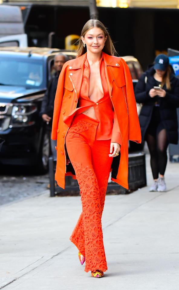 "<p>Gigi Hadid is a bona fide fashion girl, and she has the wardrobe to match the moniker. Given that she is one of the <a rel=""nofollow"" href=""https://www.forbes.com/sites/natalierobehmed/2016/08/30/the-worlds-highest-paid-models-2016-karlie-kloss-and-kendall-jenner-storm-top-three-with-10-million-apiece/#30344b8b150f"">world's most in-demand models</a>, Hadid has access to all the top designers and couture pieces a season before they're released to the public, which puts her in position to not just wear the trends, but create the trends. (Currently, she's got <a rel=""nofollow"" href=""https://www.marieclaire.com/fashion/a20975435/sunglasses-brands/"">tiny sunglasses</a> and <a rel=""nofollow"" href=""https://www.marieclaire.com/fashion/a21944938/gigi-hadid-pink-platform-sneakers/"">dad sneakers</a> on rotations, like most of the the fashion world.) But, even Hadid has some help pulling off one stunning outfit after the next: She works with stylist Mimi Cuttrell (<a rel=""nofollow"" href=""https://www.marieclaire.com/fashion/g20759719/celebrity-outfit-changes-royal-wedding-reception/"">who also styles Priyanka Chopra</a>) to put together her model off-duty looks. Get inspired to go full fashun with Gigi's best street style moments, ahead.</p><p><em>For more celebrity news, beauty and fashion advice, savvy political commentary, and fascinating features, sign up for the </em>Marie Claire <em>newsletter (<a rel=""nofollow"" href=""https://preferences.hearstmags.com/brands/MAR/subscribe.aspx?authId=F0CC0C27-80DA-4734-ABDF-E4115B84A56B&maj=WNL&min=UNDEF"">subscribe here</a>).</em></p>"