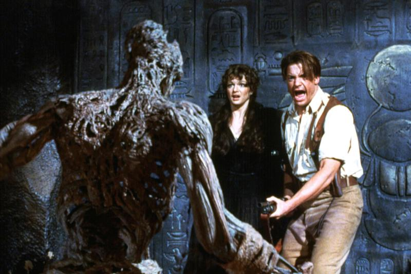 Brendan Fraser had a too-close-for-comfort encounter with a snake on the set of The Mummy