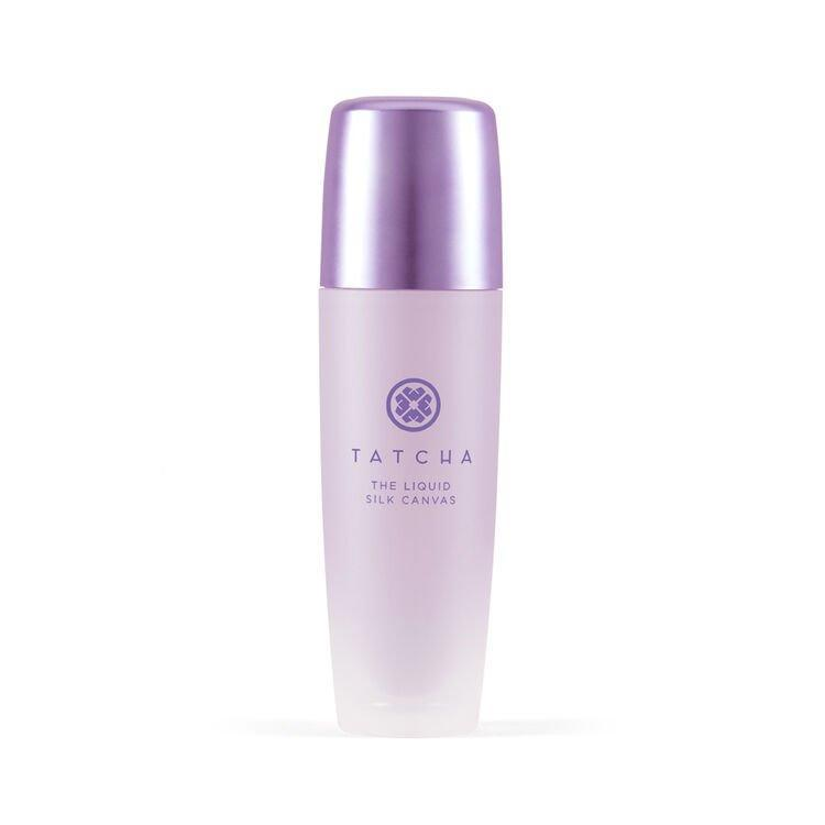 """<h3>The Liquid Silk Canvas<br></h3><br>Create a flawless base for makeup (or wear alone for an optical blurring effect) with this <a href=""""https://www.refinery29.com/en-us/2020/03/9497312/tatcha-liquid-silk-canvas-makeup-primer-review"""" rel=""""nofollow noopener"""" target=""""_blank"""" data-ylk=""""slk:oil-free primer"""" class=""""link rapid-noclick-resp"""">oil-free primer</a>.<br><br><strong>Tatcha</strong> The Liquid Silk Canvas, $, available at <a href=""""https://go.skimresources.com/?id=30283X879131&url=https%3A%2F%2Ffave.co%2F3hJHSYf"""" rel=""""nofollow noopener"""" target=""""_blank"""" data-ylk=""""slk:Tatcha"""" class=""""link rapid-noclick-resp"""">Tatcha</a>"""