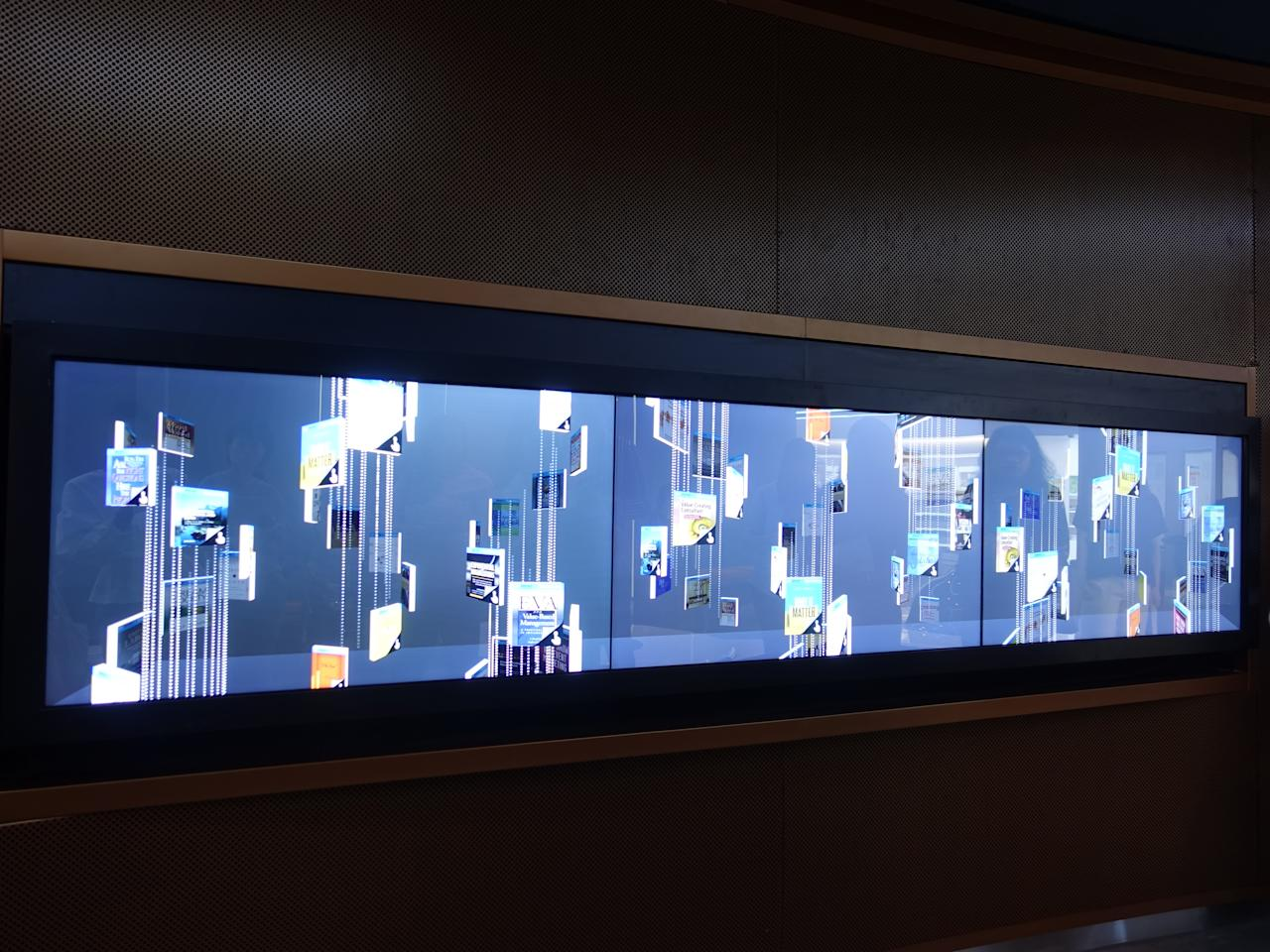<p>The eBook art display for visitors to interact with and explore new book titles. (Photo: Nurul Azliah/Yahoo Lifestyle Singapore) </p>
