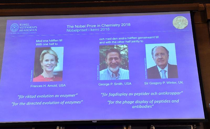 Chemistry Nobel Prize Goes to Frances Arnold, George Smith and Gregory Winter