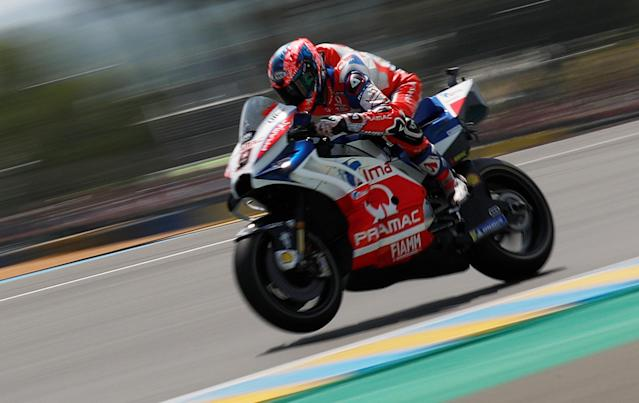 Motorcycling - MotoGP - French Grand Prix - Bugatti Circuit, Le Mans, France - May 20, 2018 Alma Pramac Racing's Danilo Petrucci during the race REUTERS/Gonzalo Fuentes