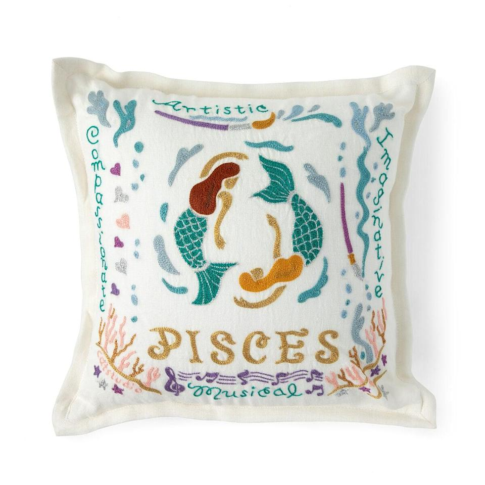 <p>The <span>Hand Embroidered Astrology Pillow</span> ($82) is a gorgeous find.</p>