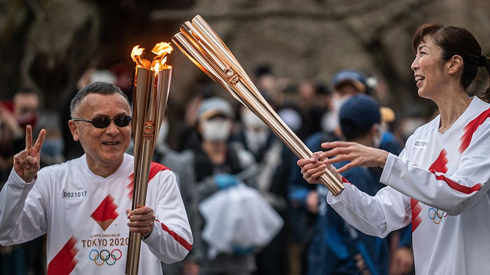 Overseas spectators will not be allowed to attend the upcoming Tokyo Olympics, which were already postponed in 2020 due to the coronavirus pandemic. (Photo by PHILIP FONG/AFP via Getty Images)