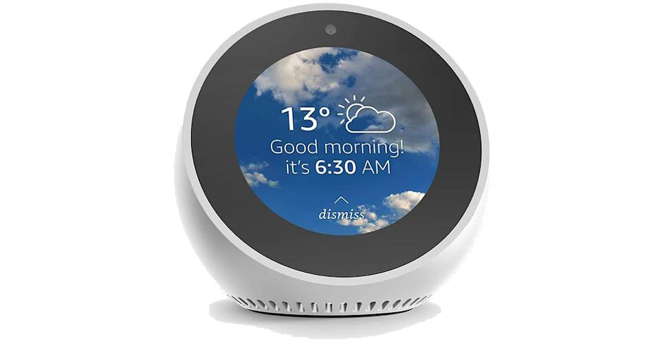 Amazon Echo Spot, Smart Alarm Clock with Alexa