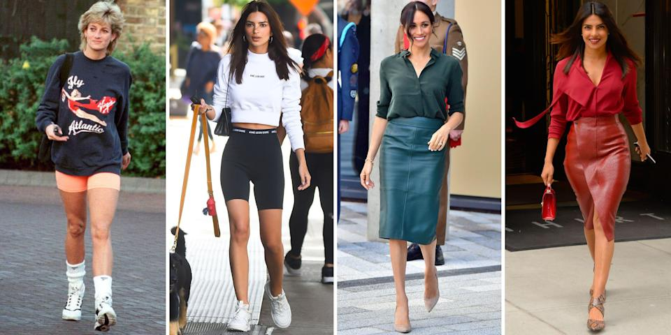 <p>The ladies of the royal family have served style inspiration for as long as they've held the throne. Even celebrities have taken note—and we have proof. From Diana's famed revenge dress to the Duchess of Sussex's polished style to the Queen's colourful wardrobe, we tracked down the best royals-inspired celebrity fashion moments (plus a few times the royals have been inspired by celebrities) over the years.</p>