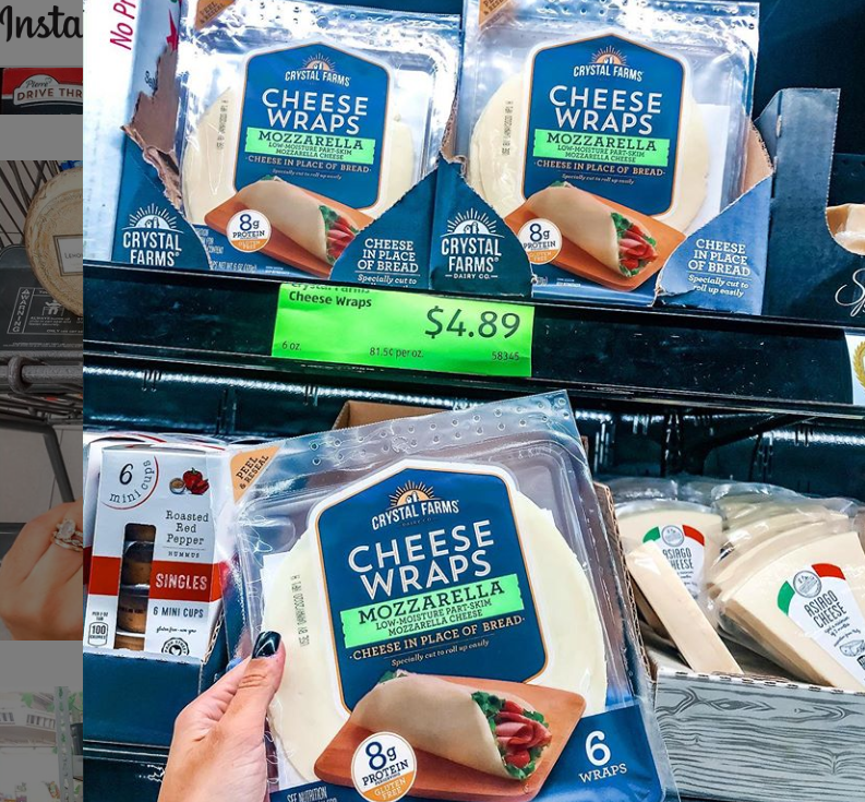 """<p>Why stop at putting cheese in your wrap when you can <em>wrap your wrap in cheese?</em> Many of us live in a constant pursuit of how to get more cheese into our lives, and Crystal Farms came to the rescue with wraps made of cheese. They're keto-friendly, too! Of course, Aldi has <a href=""""https://www.instagram.com/aldi.mademedoit/"""" rel=""""nofollow noopener"""" target=""""_blank"""" data-ylk=""""slk:shoppers"""" class=""""link rapid-noclick-resp"""">shoppers</a> covered and makes sure to stock these genius creations.</p>"""