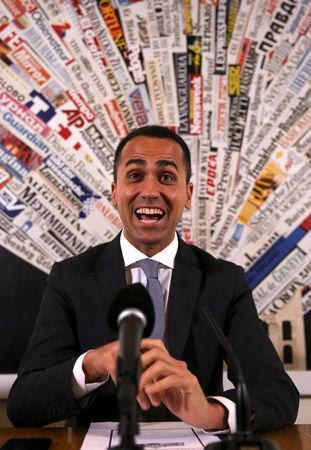 Anti-establishment 5-Star Movement Luigi Di Maio smiles during a news conference at the Foreign Press Club in Rome, Italy, March 13, 2018. REUTERS/Tony Gentile