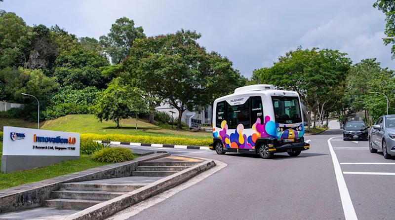 The NUSmart Shuttle, a driverless shuttle bus service, is set to go on trial at the NUS campus from 25 May 2019. (PHOTO: National University of Singapore)