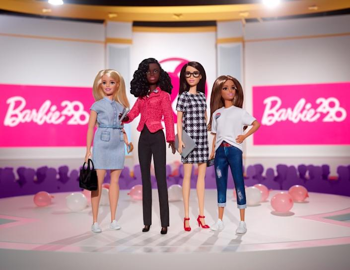 """Barbie's new Campaign Team set features a presidential candidate, campaign manager, fundraiser and voter. <span class=""""copyright"""">(Mattel)</span>"""
