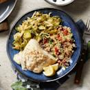 <p>Fish plus two sides? It seems fancy but this healthy dinner comes together in just 30 minutes.</p>