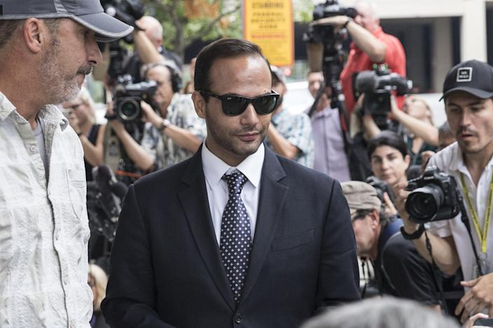 """George Papadopoulos, a former campaign aide to President Donald Trump, pleaded guilty to making a """"materially false, fictitious and fraudulent statement"""" to investigators during FBI's probe of Russian interference during the 2016 presidential election."""