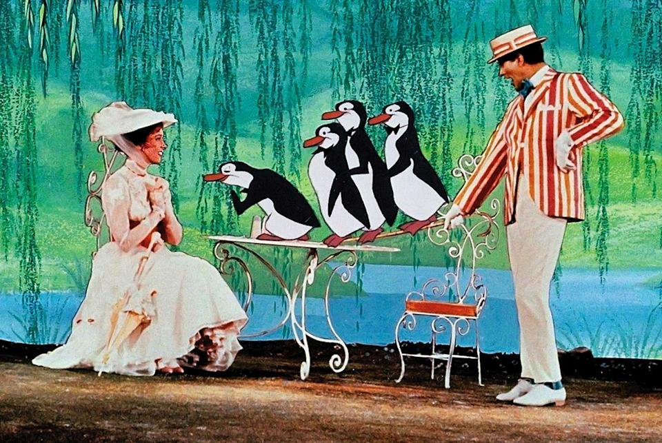 Julie Andrews and Dick Van Dyke as Mary and Bert in <i>Mary Poppins</i> (Rex)