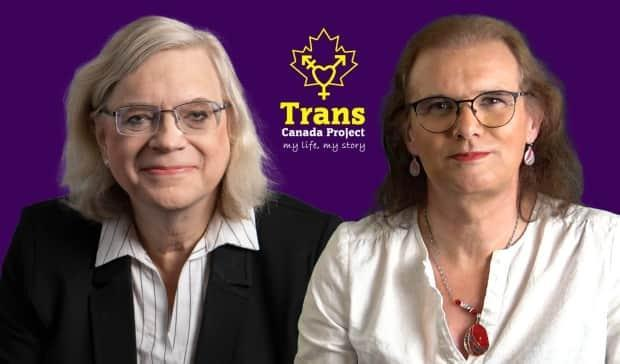Kelly Schwab and Cary Scott are the two people behind the 'Trans Canada Project: My life, my story.' The two are sharing trans and non-binary stories online.  (Trans Canada Project/Facebook - image credit)