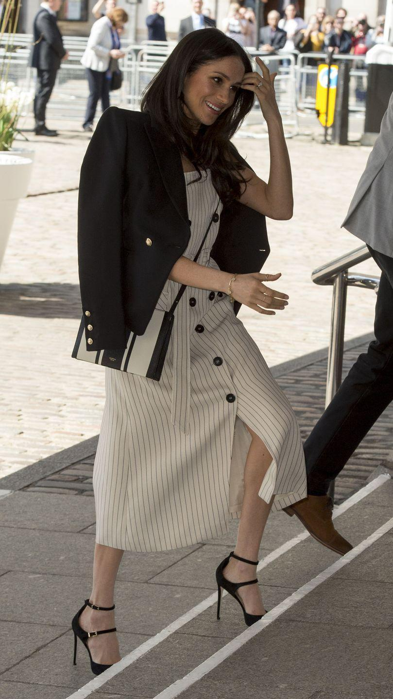 <p>In April 2018, Meghan joined Harry at the Commonwealth Youth Forum. This event usually only allows royal family members to join and at the time, Meghan was only Harry's then-fiancé. </p>