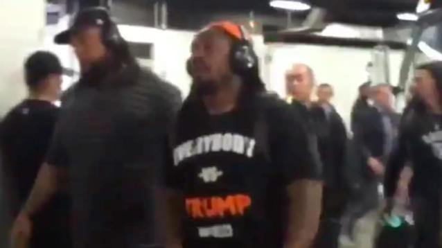 It's probably safe to say Marshawn Lynch won't be supporting a re-election bid for President Donald Trump.