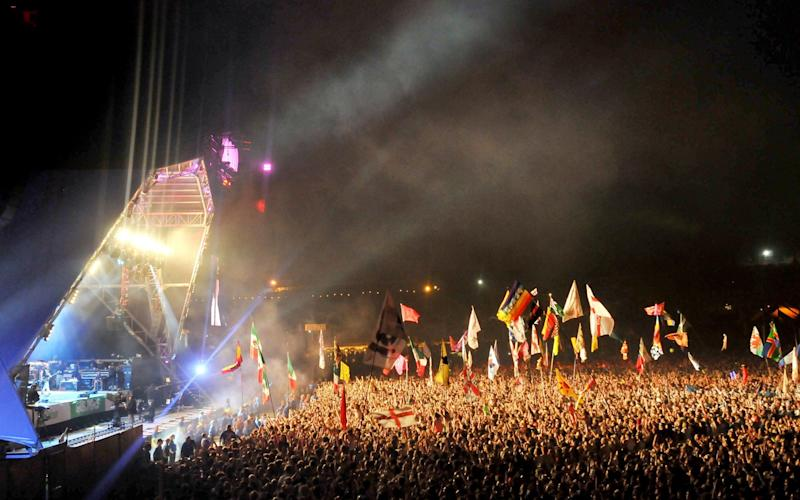 """The magical spirit of Glastonbury"" - <static text>"