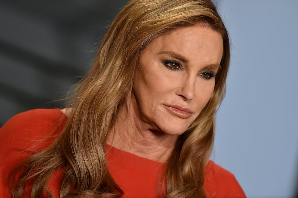 Caitlyn Jenner attends the 2018 Vanity Fair Oscar Party hosted by Radhika Jones at Wallis Annenberg Center for the Performing Arts on March 4, 2018 in Beverly Hills, California.  (Photo by Axelle/Bauer-Griffin/FilmMagic)