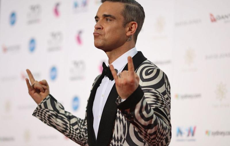 These days Robbie Williams chooses to put his rock and roll lifestyle days behind him, revealing the whole