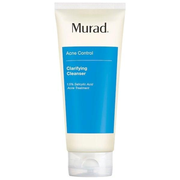 <p>This top-rated <span>Murad Clarifying Cleanser</span> ($12-$32) actually boasts two types of salicylic acid inside - one that starts working immediately and a second encapsulated one that can continue to work long after the cleanser is rinsed away.</p>