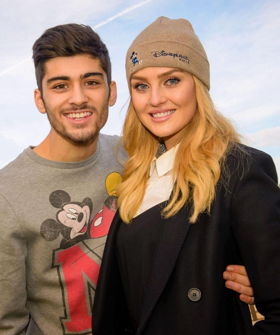 """<p>The pop singers began dating in December 2011 and Malik <a href=""""http://www.telegraph.co.uk/music/news/zayn-malik-perrie-edwards-romantic-timeline/"""" rel=""""nofollow noopener"""" target=""""_blank"""" data-ylk=""""slk:proposed two years later"""" class=""""link rapid-noclick-resp"""">proposed two years later</a>. Their relationship ended in August 2015 with <a href=""""http://www.glamourmagazine.co.uk/article/zayn-malik-and-perrie-edwards-split-engagement-over-news"""" rel=""""nofollow noopener"""" target=""""_blank"""" data-ylk=""""slk:an alleged text message"""" class=""""link rapid-noclick-resp"""">an alleged text message</a> (which Malik later denied). """"It was horrible, the worst time in my life,"""" Edwards said. """"A four-year relationship, two year engagement ended by a simple text message. Just like that.<span class=""""redactor-invisible-space"""">"""" </span></p>"""