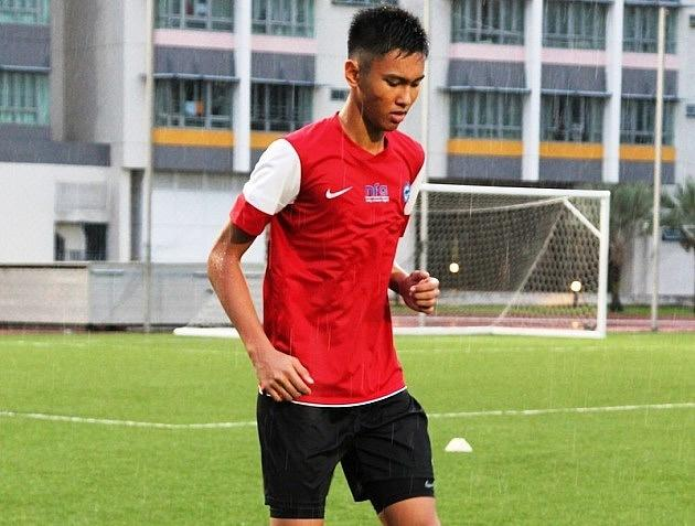 Adam Hakeem, son of Nazri Nasir, training at the Singapore Sports School ahead of the Lion City Cup. (Photo: 25th Canon Lion City Cup)