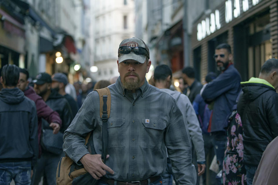 """This image released by Focus Features shows Matt Damon in a scene from """"Stillwater."""" (Jessica Forde/Focus Features via AP)"""