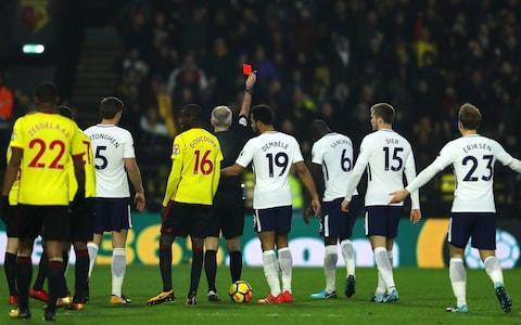 """Marco Silva took time after Watford's combative and controversial draw with Tottenham to hit back at Sam Allardyce's recent comments. Allardyce had questioned the Watford coach's credentials last week when appointed as Everton manager, saying the Portuguese's track record """"has no comparison whatsoever with mine because he got Hull City relegated"""". Silva, who had taken the Hull job when they were already bottom of the table, said: """"When he [Allardyce] made this comparison it does not make sense. It is the same thing if I compare his work with a national team coach like Gareth Southgate. It's like me comparing the goals Richarlison scores in the Premier League to Peter Crouch. Crouch is 37, Richarlison is 20, Crouch has played so many games and Richarlison far less. """"If you want easy work, go and see what he was doing when he was 40 years old or what he was doing in his first seven seasons as a coach. Then look at what I am doing. Or you can wait until I am 63 years old and we can compare what I have done. That is the best solution."""" Referee Martin Atkinson managed to upset both sets of supporters at Vicarage Road on Saturday Credit: Getty Images Silva has transformed Watford, who took the lead against Spurs with a Christian Kabasele header after 13 minutes. Heung-min Son equalised for Spurs, who have dropped 13 points out of 18 in the past six weeks, ending their title hopes. Mauricio Pochettino, their manager, pointed out they were only two points worse off than at this time last season. """"Sometimes, it's difficult to keep your level but we are only a few points worse off than last season, we have finished first in our Champions League group and the squad is similar to last season,"""" he said. """"Manchester City have created a massive gap and the gap is too far to win the Premier League, but we are going to improve for sure."""" Watford might have won had it not been for the woodwork and some dire decisions by referee Martin Atkinson, who managed to upset both sets of fans."""