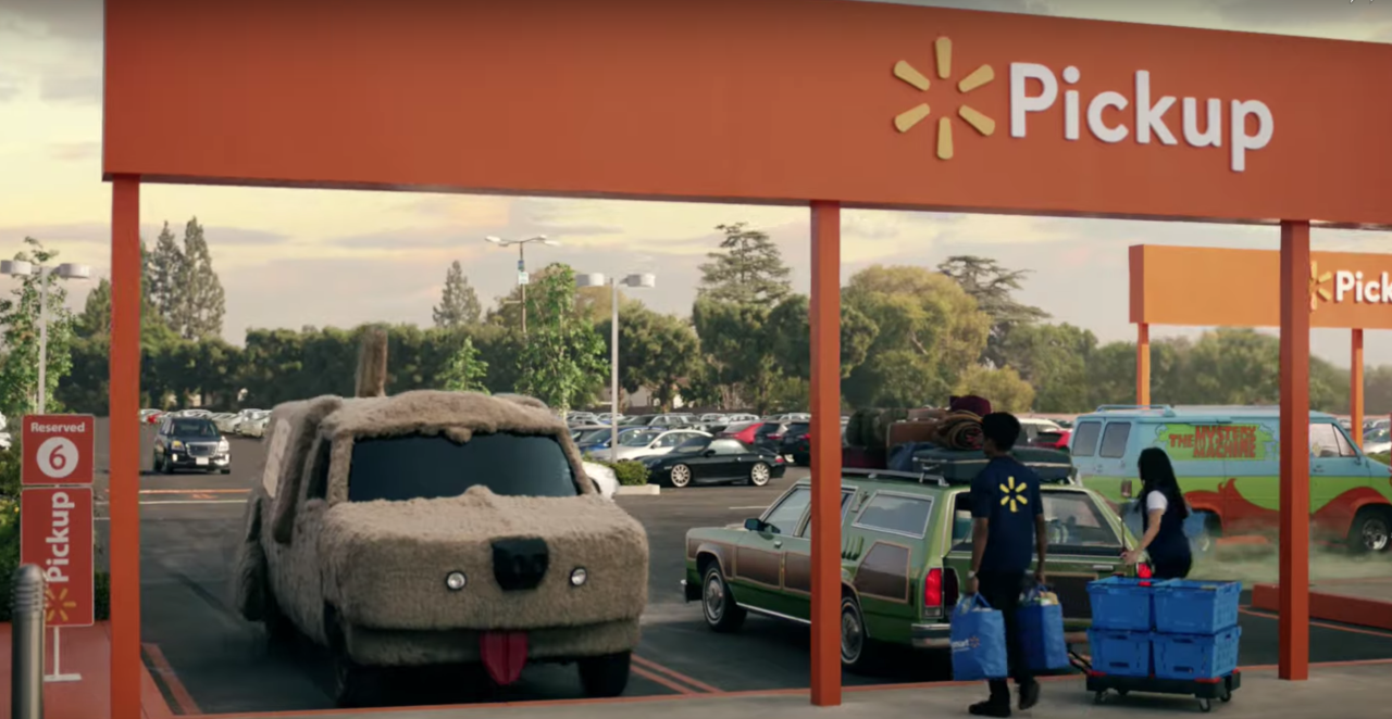 <p><em><strong>UPDATE 2/3/19:</strong> Walmart's ad made another TV appearance at the 2019 Super Bowl.</em></p><p>Walmart has a new pickup service, and it pulled out all the stops for its new ad premiering during the 2019 Golden Globe awards. All manner of iconic movie cars are featured in the spot as they converge on a Walmart to pick up groceries. We're sure you'll see one of your favorites in there.</p>