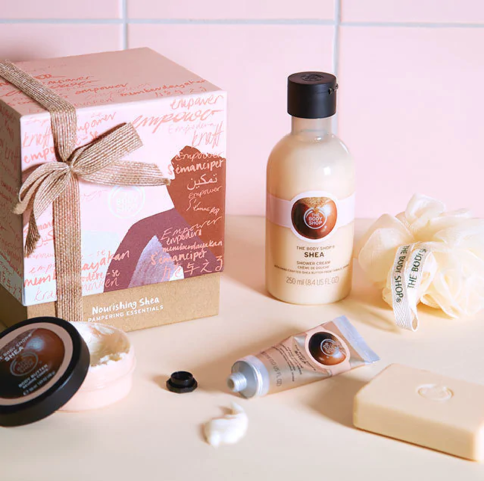 Nourishing Shea Pampering Essentials. Image via The Body Shop.