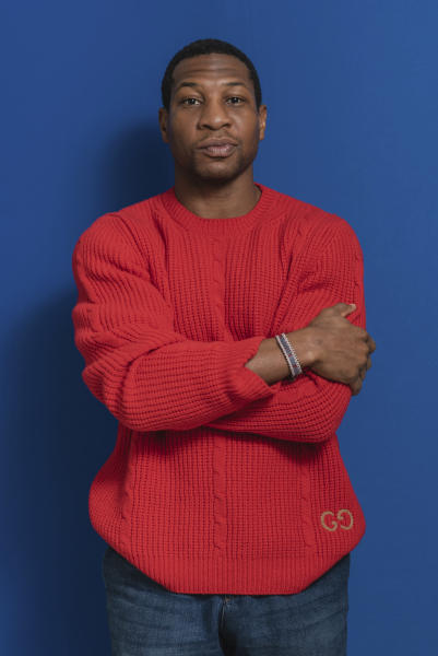 This Dec. 2, 2019 photo shows actor Jonathan Majors during a portrait session in New York. Majors was named one of the breakthrough artists of the year by the Associated Press. (Photo by Christopher Smith/Invision/AP)